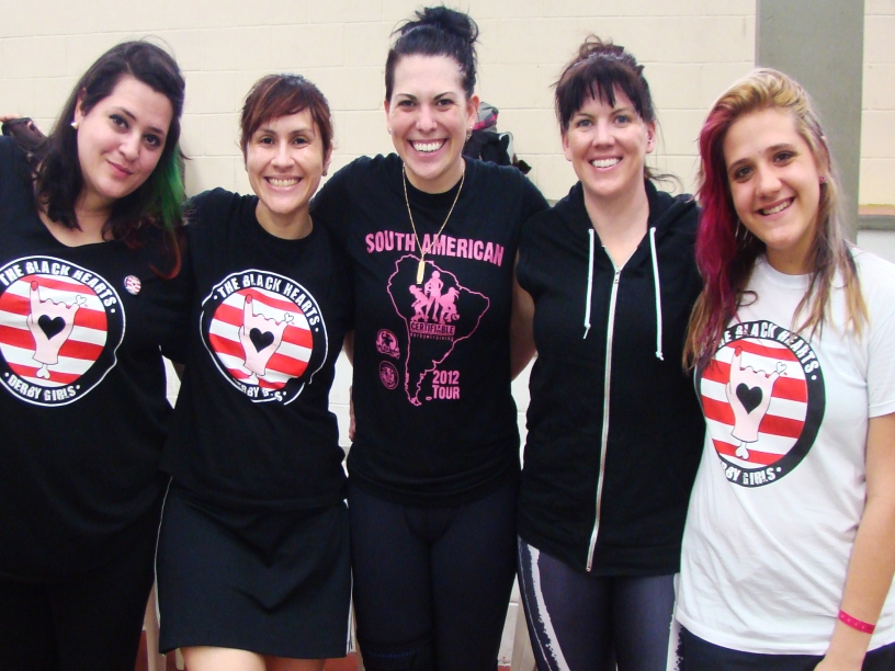 Da esquerda para a direita: Belle Ditto, Pauleira, Psychobabble, DeRanged e Baby Merciless